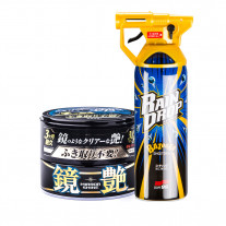Комплект Soft99 Set Mirror Shine Wax Dark + Rain Drop Bazooka