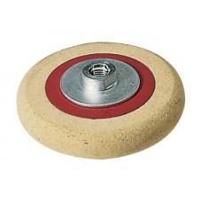 Backed fleece felt pad Flex with threaded flange M14 175 mm